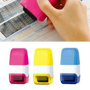 1Pcs-Guard-Your-ID-Roller-Stamp-SelfInking-Stamp-Messy-Code-Security-Office