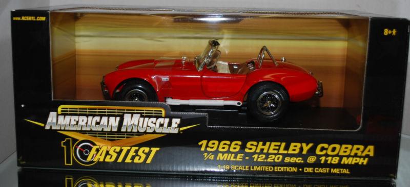 alta calidad y envío rápido 1 18 ertl - 1966 1966 1966 Ford Shelby Cobra - 10 ayuna 1 4 Mile - 12.20sec. - rojo  precios mas bajos