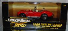 1:18 ERTL - 1966 Ford Shelby Cobra - 10 Fastest 1/4 Mile - 12.20sec.  - Red