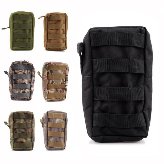 Tactical MOLLE/PALS Modular Utility Pouch Magazine Mag Accessory Medic Tool Bag