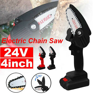 550W 24v Mini One-Hand Saw Electric Woodworking Chainsaw Wood Cutting Battery