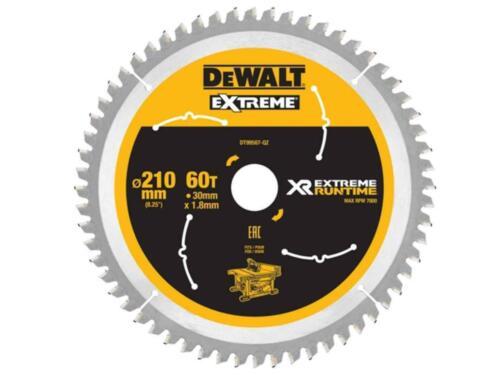 DeWalt DT99567QZ 210 mm x 30 mm 60 T FlexVolt Xtreme Runtime Lame de scie