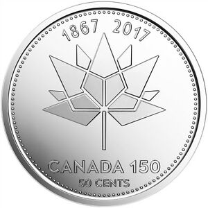 UNC 50 Cents Canada Canada 150-150th Anniversary of Canada 2017