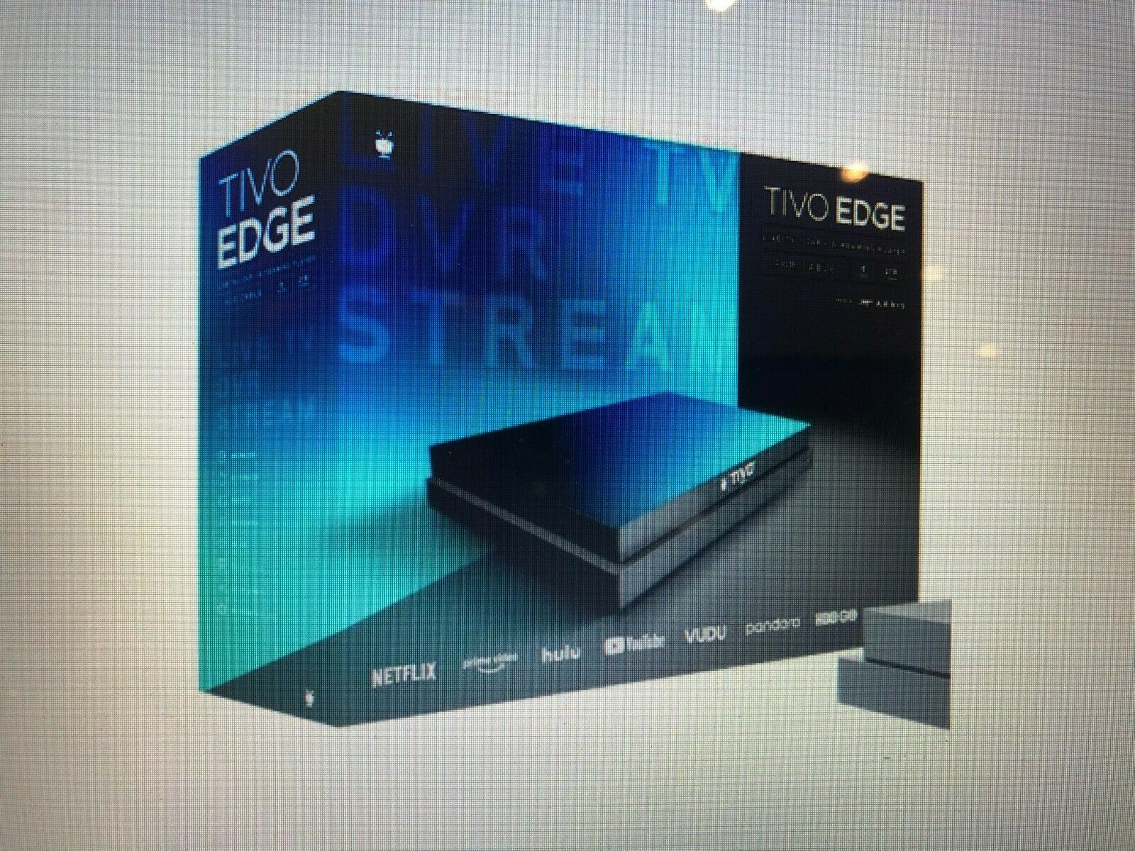 TiVO EDGE for CABLE Live TV / DVR Streaming Player, 4 Tuners, 2TB - BRAND NEW 2tb brand cable dvr edge for live new streaming tivo