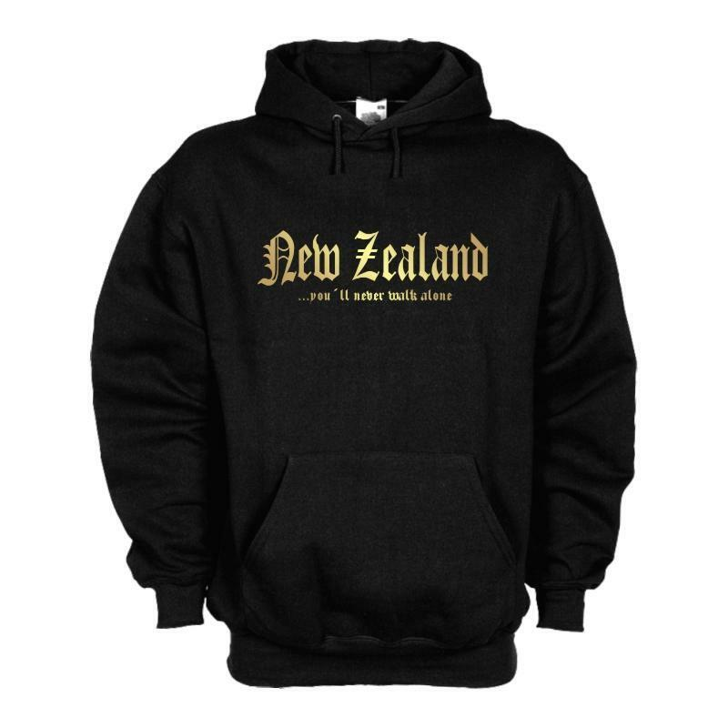 Kapuzensweat NEUSEELAND (New Zealand) never walk alone Kapuzenpulli (WMS01-40d)