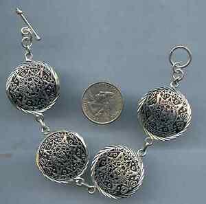 Aztec Mayan Calendar Sterling Silver Vintage Charm For Bracelet
