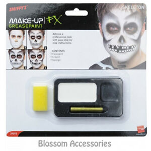 A864-Skeleton-Halloween-Face-Paint-Makeup-Palette-Special-FX-Black-White-Make-Up