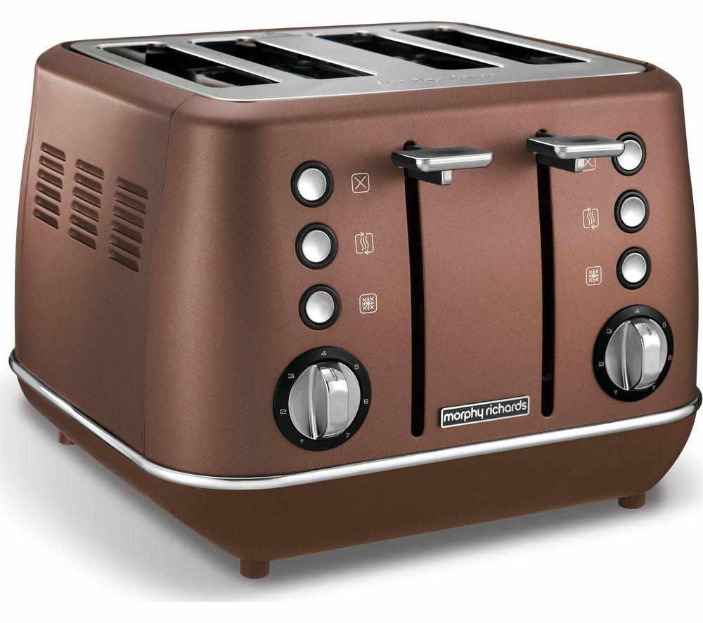 Morphy Richards évoquent Premium 4-slice Grille-pain-Bronze