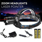 5000LM CREE XM-L T6 LED Headlight Head Lamp Zoomable Headlamp+2x18650+Charger