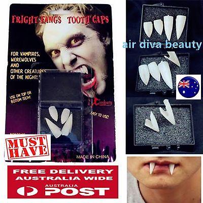 Details about  /2PCS Fancy Halloween Costume Party Zombie Vampire Werewolf Fangs Tooth Cap Prop
