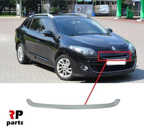 Pour Renault Megane III 12-13 Nouveau Pare-chocs avant supérieur Chrome Center Trim