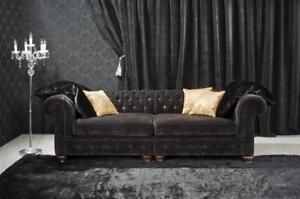 Chestefield Sofa Canapé En Cuir Designer Textile Siège Coussin Garniture Design 201820-afficher Le Titre D'origine