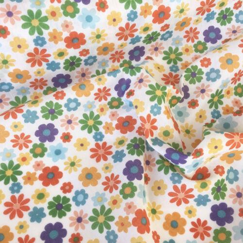 """Por Metro Otoño Floral Poly Algodón 44/"""" de Ancho de Color Para Craft /& Confección"""