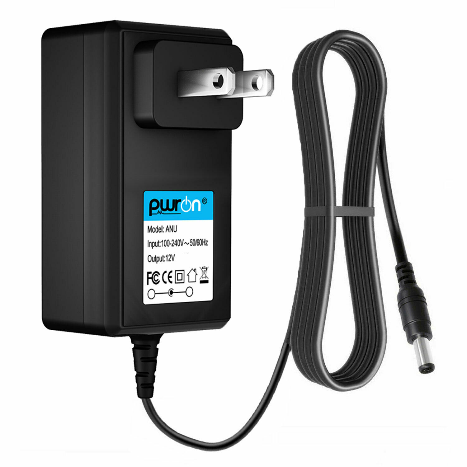 PwrON 12V AC DC Adapter Charger for Seagate FreeAgent 9BJ83G-561 Power Supply