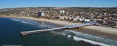 Pacific Beach  Crystal Pier  San Diego California Aerial  Panorama Poster #8