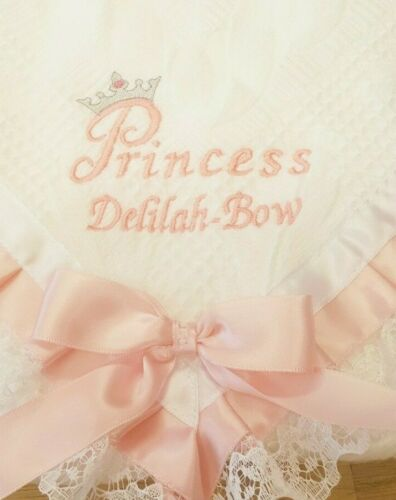 princess embroidered frilly ribbon and lace white shawl girl gift luxurious