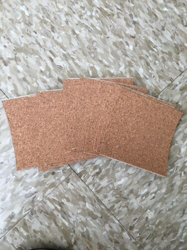 4x4x1//16 Cork Adhesive Strips x10