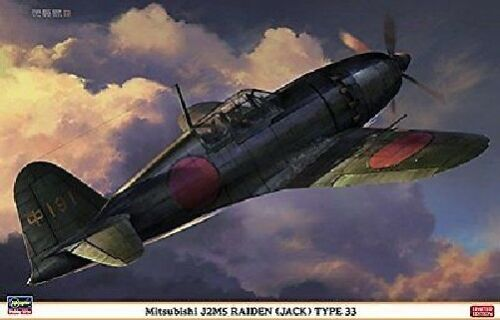 Hasegawa 132 Mitsubishi J2M5 RAIDEN JACK Type 33 Model Kit NEW from Japan