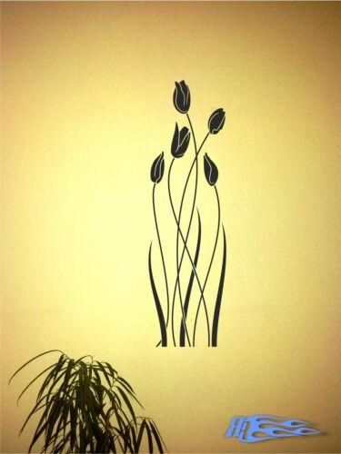 Wandtattoo Tulpe Wandaufkleber Deko MATT Geschenkidee Blume