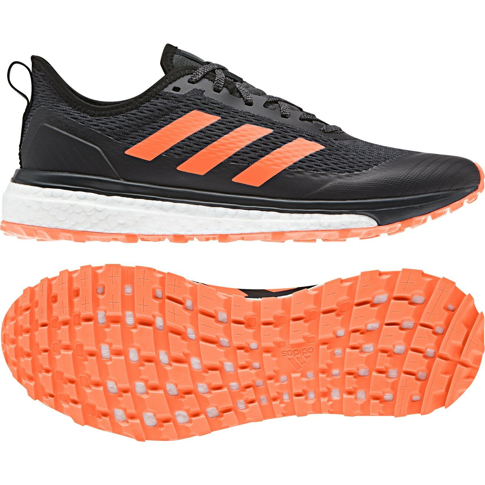 new arrivals 82ccf 5050c ADIDAS RESPONSE TRAIL BOOST MEN S RUNNING HIKING SHOES SIZE US US US 9 BLACK  BB6608 288350
