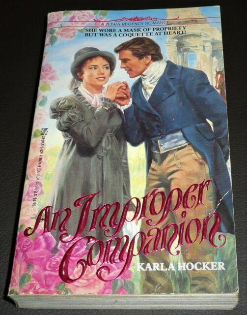An Improper Companion by Karla Hocker (1989, Paperback) 1st ed 0821726919