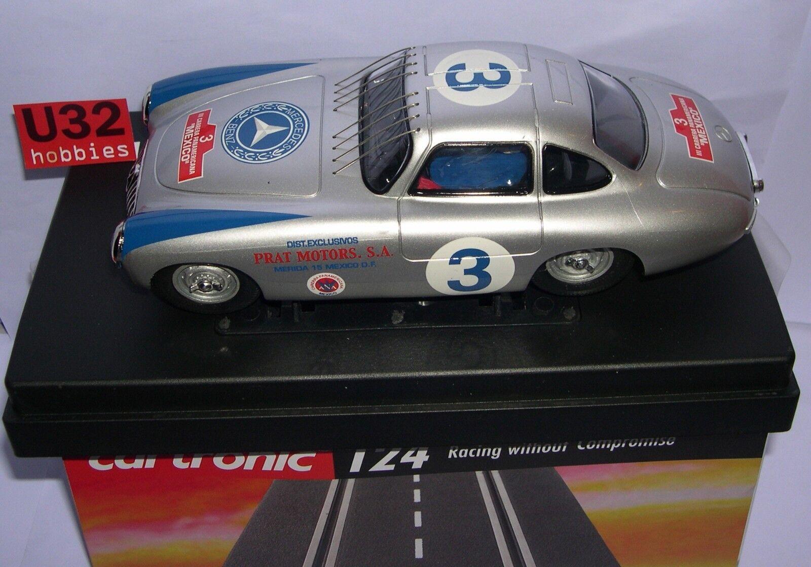 CARTRONIC 31001 SLOT CAR 1/24 1/24 1/24 MERCEDES 300 SL 3 III PAN AMERICAN MEXICO MB ddde0a