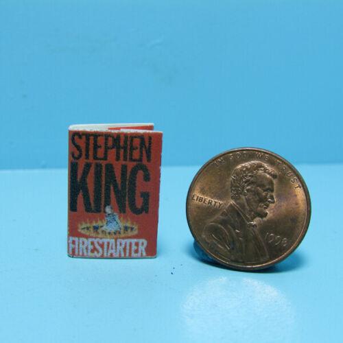 Dollhouse Miniature Firestarter Readable Stephen King Book TIN2009