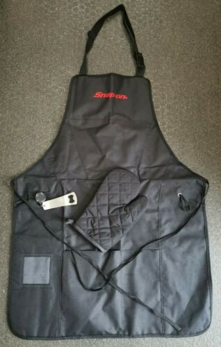 SNAP-ON BBQ Apron with oven Glove and bottle opener