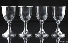 Vintage S. Kirk & Son Sterling Silver #207 Water Goblets - Set of 4 - Rare