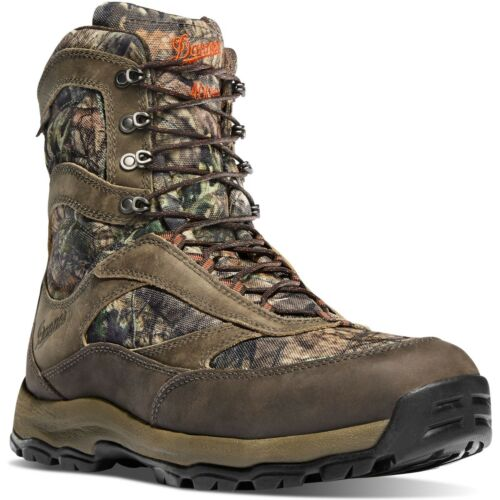 """Danner Mens 46246 High Ground 8/"""" Mossy Oak Camo 400G Insulated Hunting Boots"""
