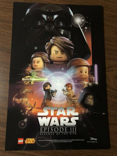 LEGO Star Wars Celebration 2015 POSTER Episode III Revenge Of The Sith NEW Exclu