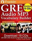 Franklin GRE Audio MP3 Vocabulary Builder: Download 19 CDs with 3861 GRE Words for High GRE Verbal Score by Franklin Vocab System (Paperback / softback, 2014)