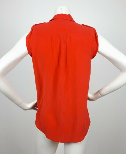 Xs Coral 100 Equipment Red Shirt Silk Sleeveless Epaulettes xPw0qAZ1f