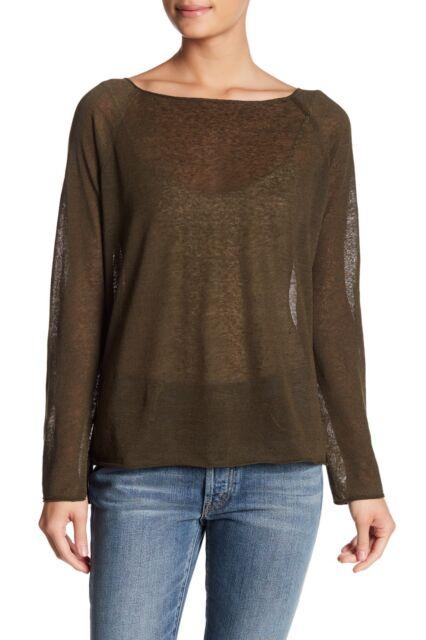 Theory Lalora Light Linen Blend Knit Tee Top Size M Ebay