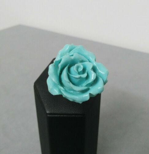 Anello rosa turchese placcato argento pasta di turchese regolabile fiori