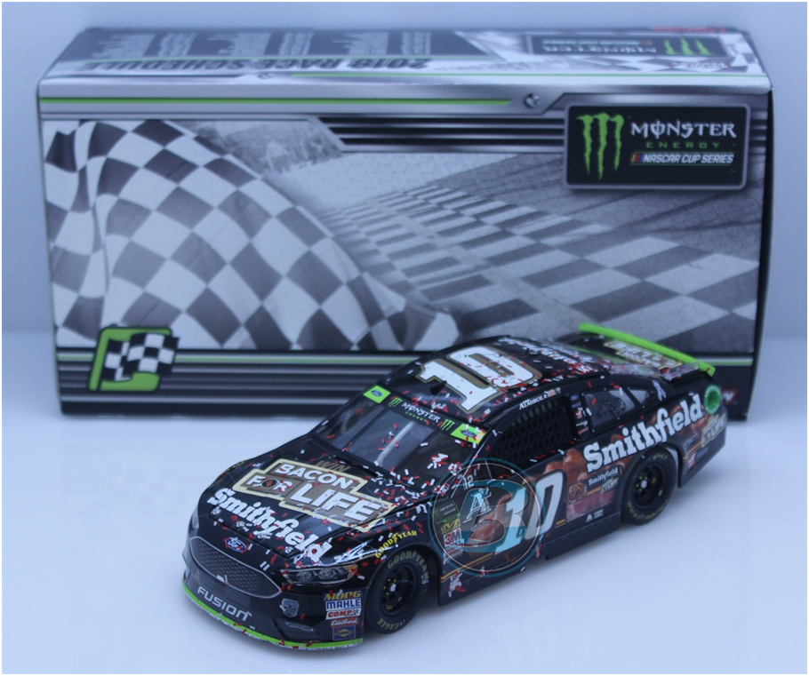 NASCAR 2018 ARIC ALMIROLA  10 GrößeDEGA RACE WIN BACON FOR LIFE 1 24 CAR