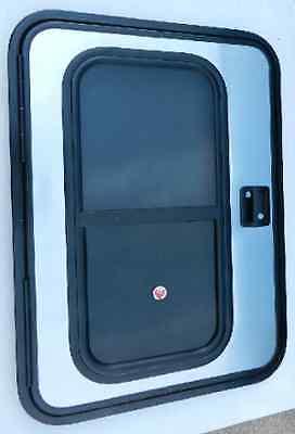 RV Teardrop Driver Side Insulated Foam Core Mill & Black Trailer Door (NEW!)