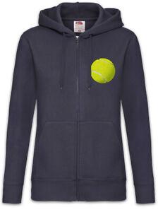 Tennis-Ball-Damen-Zipper-Hoodie-Player-Tennisball-Tennisspieler-Tennisschlaeger