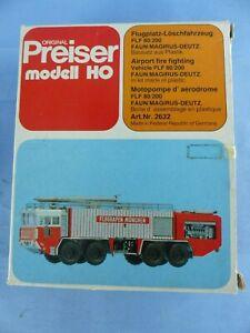 PREISER Ho motopompe MAGIRUS-DEUTZ réf : 2632 neuf en boite , train pompier