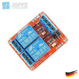 2-Kanal-12V-Relais-Modul-mit-Optokoppler-fuer-u-a-Arduino-2Ch-High-Low-Trigger