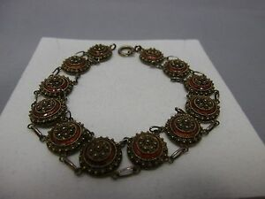 schones-emailliertes-filigran-Armband-aus-Silber-833-punziert-Portugal-1886-1938