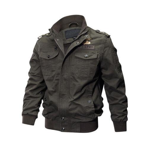 2019 Homme en Plein Air Tactique Lavé Coton Militaire Vestes Bomber Cargo manteau