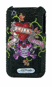 Ed-Hardy-Crystal-Snap-On-Back-Cover-for-iPhone-3G-amp-3GS-Black-Love-Kills-Slo