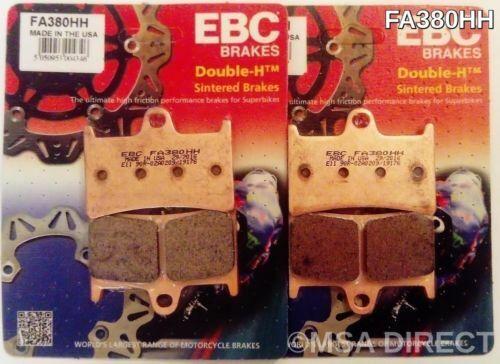 Yamaha XSR900 (2016 to 2018) EBC Sintered FRONT Disc Brake Pads (FA380HH) 2 Sets