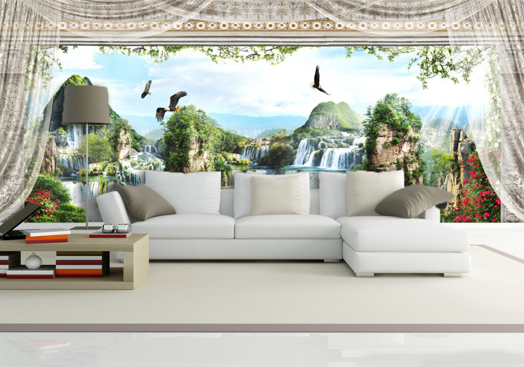 3D Rolling Peaks 13 Wall Paper Wall Print Decal Wall Deco Indoor Wall