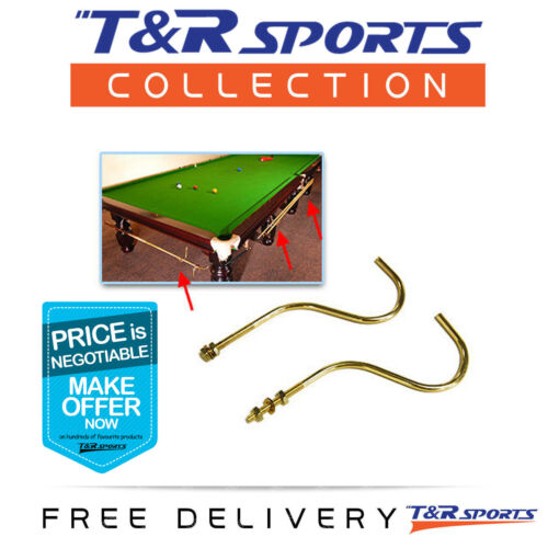 A PAIR OF BRASS CUE RACK HANGER FOR POOL TABLE BILLIARD SNOOKER TABLES NEW