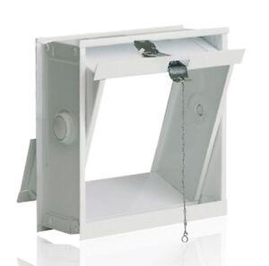 Détails sur Ventilation aile pour un mur de briques de verre pour 1 bloc de  verre 24x24x8cm
