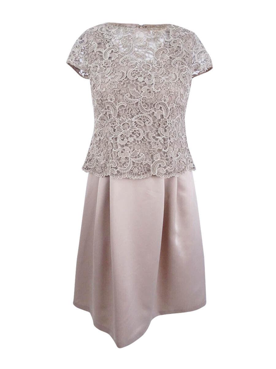 Alex Evenings Woherren Petite Lace Tea-Length Dress