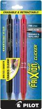 Pilot Frixion Clicker Erasable Gel Pen Assorted Ink 3 Per Pack 31467