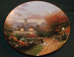 Image is loading KNOWLES-Thomas-Kinkade-LtEd-Plate-OPEN-GATE-COTTAGE- & KNOWLES/Thomas Kinkade LtEd Plate: OPEN GATE COTTAGE: Garden ...
